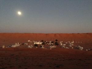 Full moon over the Desert Nights Camp