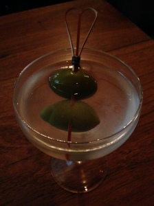 My first Martini in Melbourne.