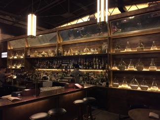 The bar at Archie Rose featuring gins from around the world