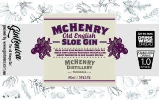 gintonica - 60mm x 38mm advent bottle - mchenry - sloe gin
