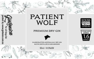 gintonica - 60mm x 38mm advent bottle - patient wolf